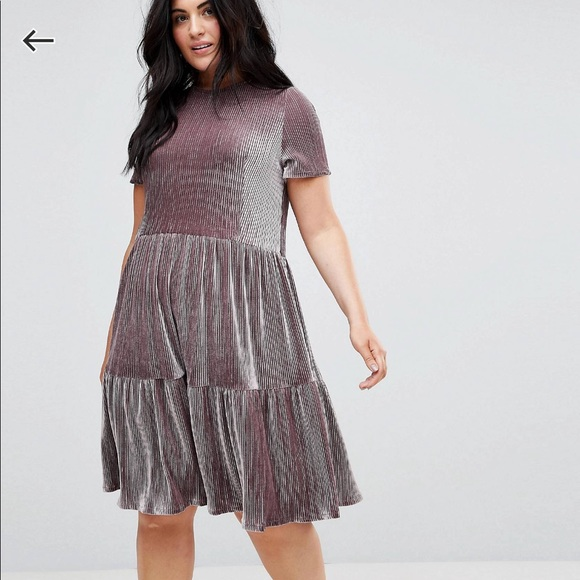 Asos Curve Dresses Plus Size Velvet Dress Poshmark